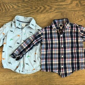 2 boys button up shirts